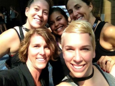 My girls and me at the LesMills Mega Quarterly in Nola