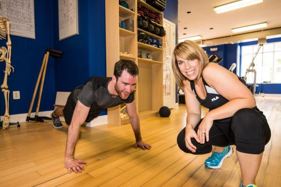 Just workin' on our fitness at TRUE Health and Wholeness in Arlington, VA