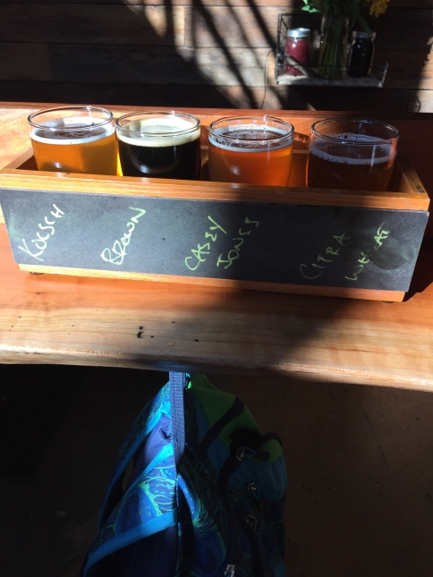 Fruits (hops) of our labor at Caboose Brewery.